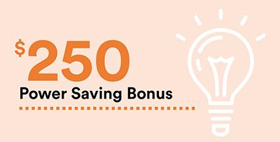 Course Image $250 Power Saving Bonus